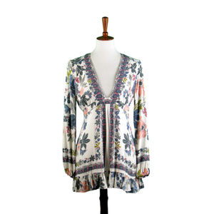 Free People Floral Tunic With Ruffle Hem